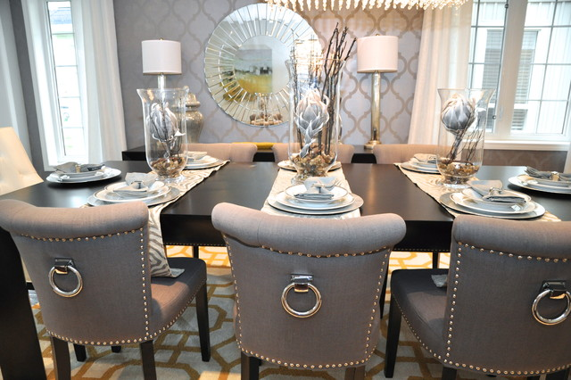 Glam Chic Dining Room Transitional dining room