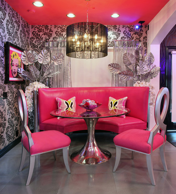 Glam Dance Studio Contemporary Dining Room Los