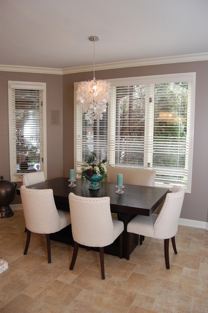 Glamorous kitchen design transitional dining room for Dining room design questions