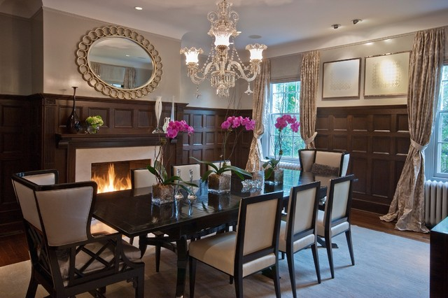 Glamorous modern historical georgian colonial for Dining room ideas 2018