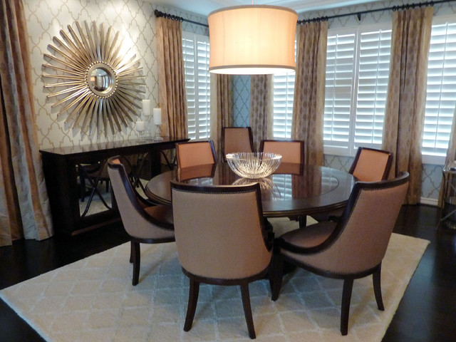 Glamour Dining Room traditional dining room