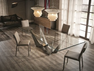 Glass dining table skorpio by cattelan italia 2 - Table salle a manger verre extensible ...
