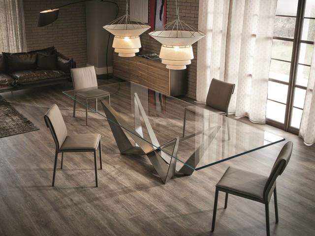 Glass Dining Table Skorpio By Cattelan Italia