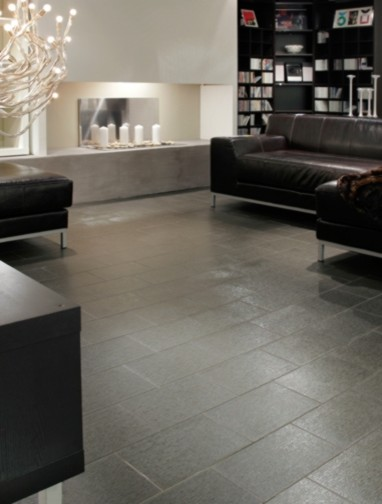 Glass Floor Tile Contemporary Dining Room Vancouver By