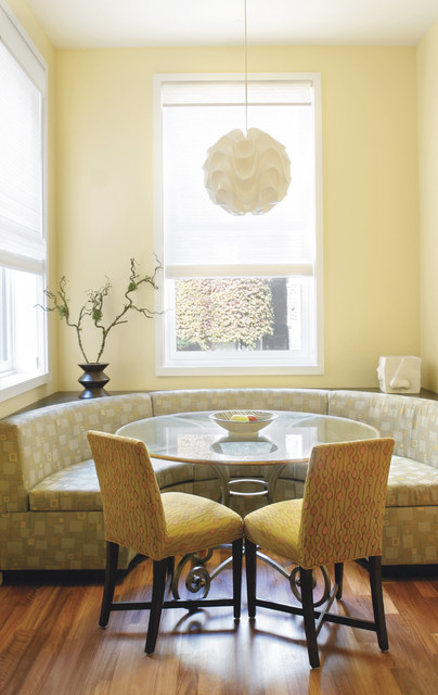 Gleicher's Eco-Friendly Townhouse contemporary-dining-room