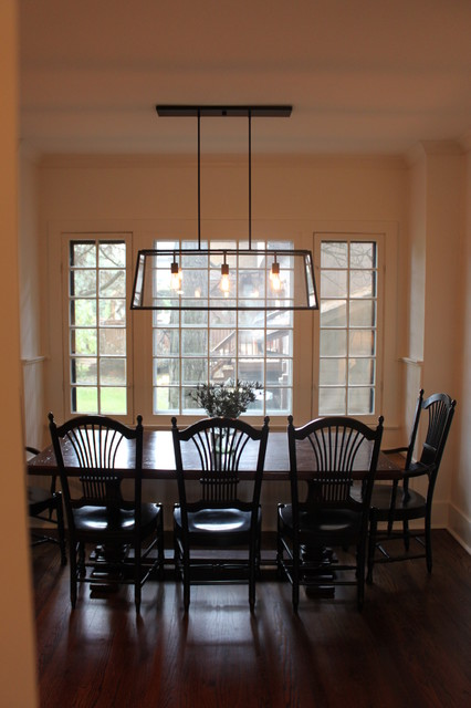 Glen ellyn gorgeous gray transitional dining room for Best transitional dining rooms