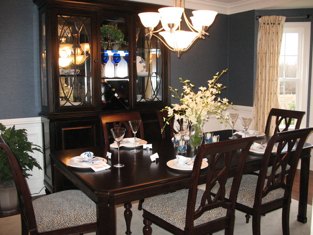 Glenwood model home traditional dining room for Model home dining room