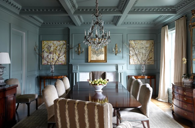 Inspiration For A Mid Sized Timeless Medium Tone Wood Floor Enclosed Dining  Room Remodel In Part 64
