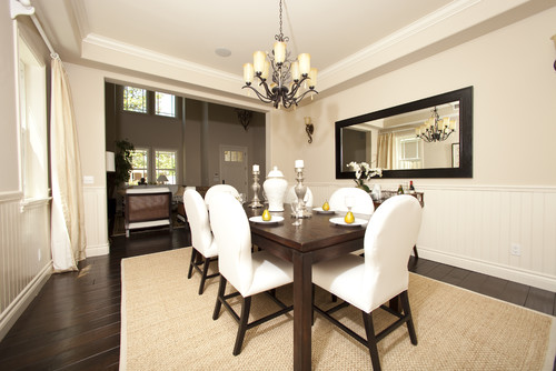 Contemporary Dining Room In Neutral Shades