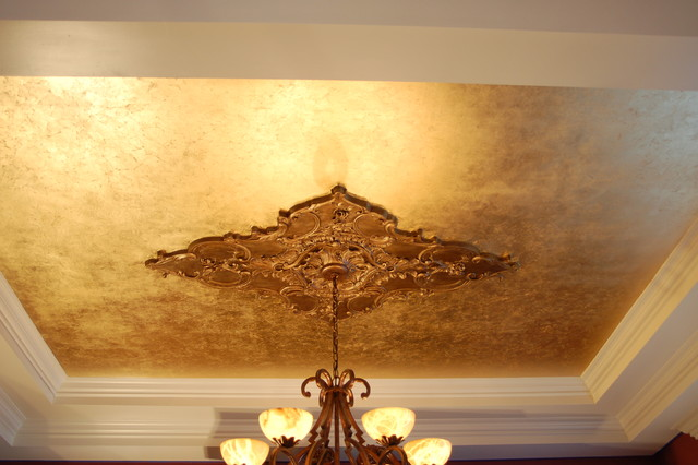 Gold Leaf Dining Room Ceiling : traditional dining room from www.houzz.com size 640 x 426 jpeg 64kB