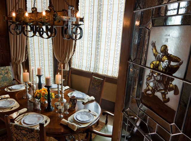 gothic castle in the blue ridge mountains traditional dining room