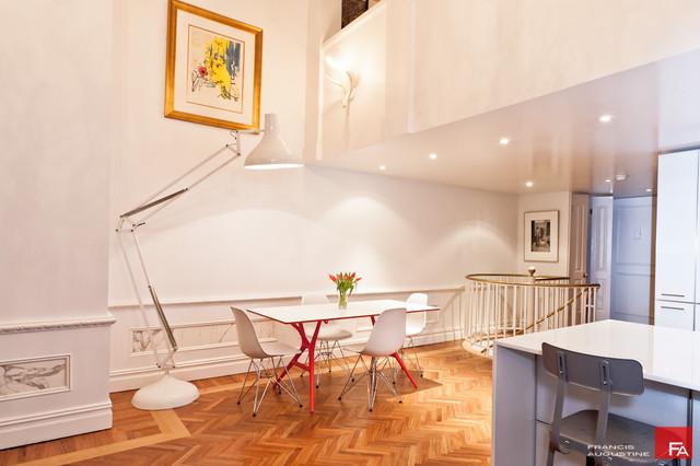 modern dining room by Marie Burgos Design