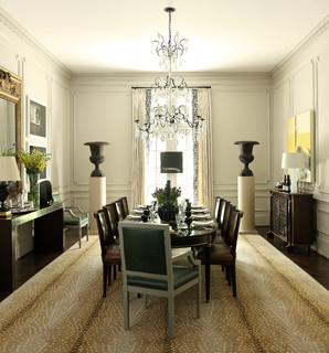 Grand Dining Room Atlanta Transitional By Robert Brown Interior Design