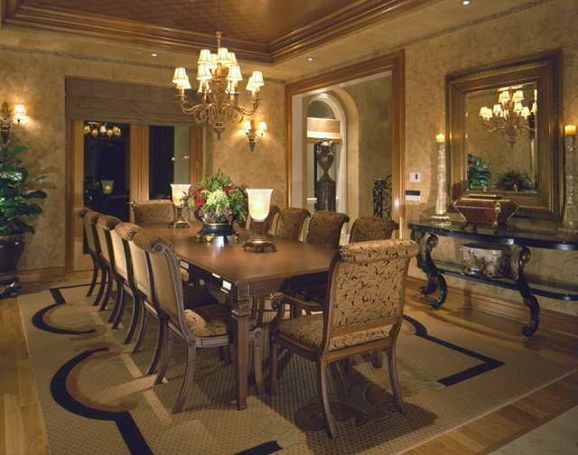 Grand Italian Inspired Estate traditional-dining-room