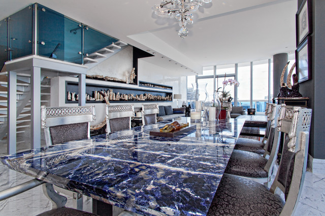 Granite Dining Room Table Contemporary Dining Room