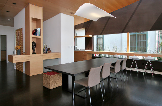 Gravatt House contemporary-dining-room