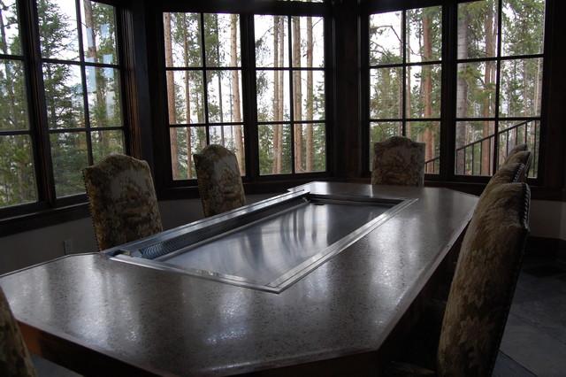 Great Divide Builders Rustic Dining Room