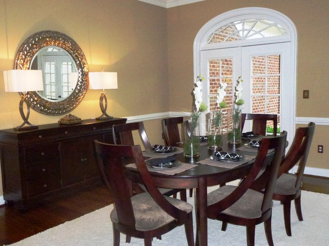 Great falls estate home vacant staging traditional for The dining room leigh