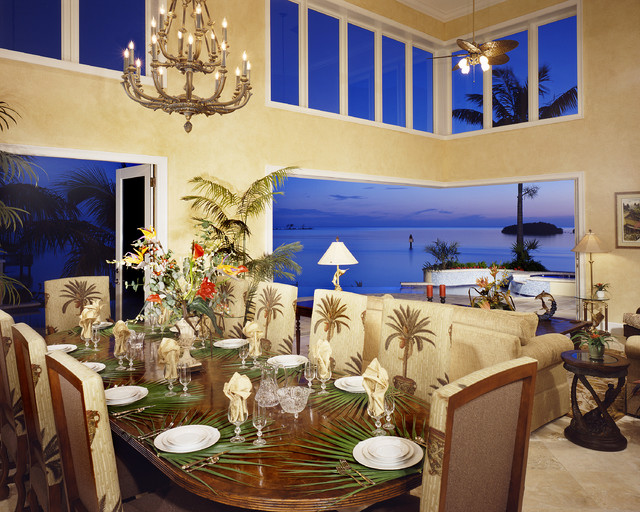 Great Rooms tropical-dining-room
