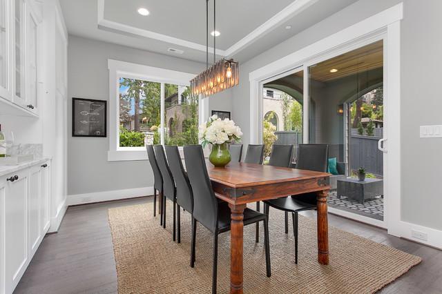 Greater seattle area the mozart dining room for Seattle area home builders