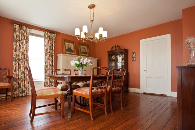 greek revival farmhouse in vermont - farmhouse - dining room
