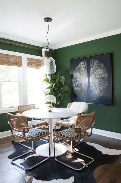 Green And Botanical Themeseclectic Dining Room Perth