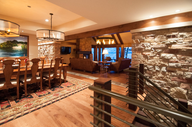 Dining room - rustic dining room idea in Other