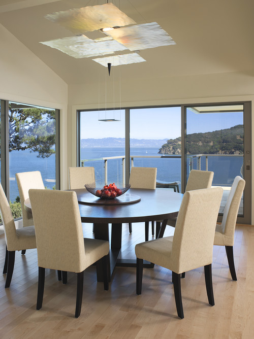 How much room is needed for a 60quot round table with 6  : contemporary dining room from www.houzz.com size 500 x 668 jpeg 88kB