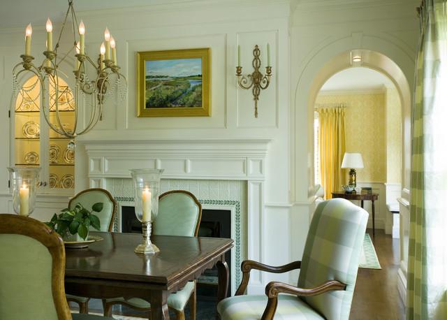 Green Tea traditional-dining-room