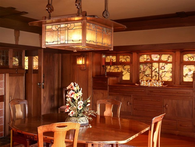 Greene and Greene Gamble House, Pasadena 1908 - Craftsman - Dining ...