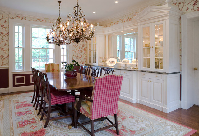 Greenwich Georgian Colonial Addition Traditional Dining Room