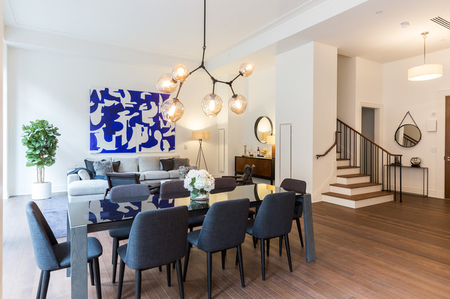 Greenwich lane townhouse contemporary dining room