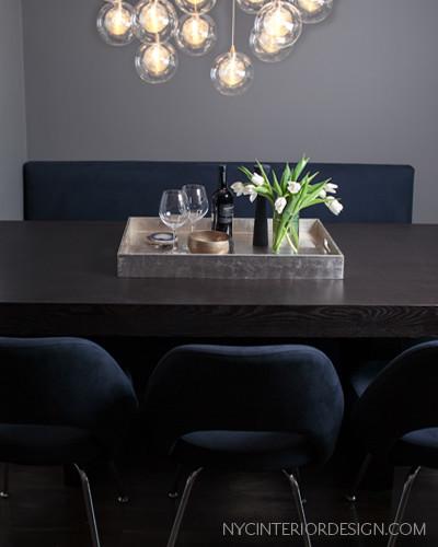Greenwich Village Apartment -  Interior Design contemporary-dining-room