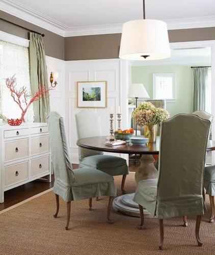 Grey & Aqua traditional-dining-room