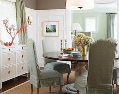 Grey & Aqua traditional dining room