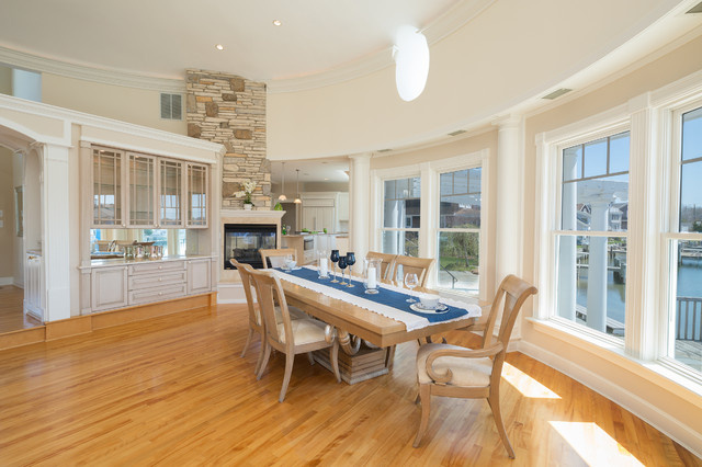 Groton Long Point Ct Waterfront Luxury Home Transitional Dining Room New York By