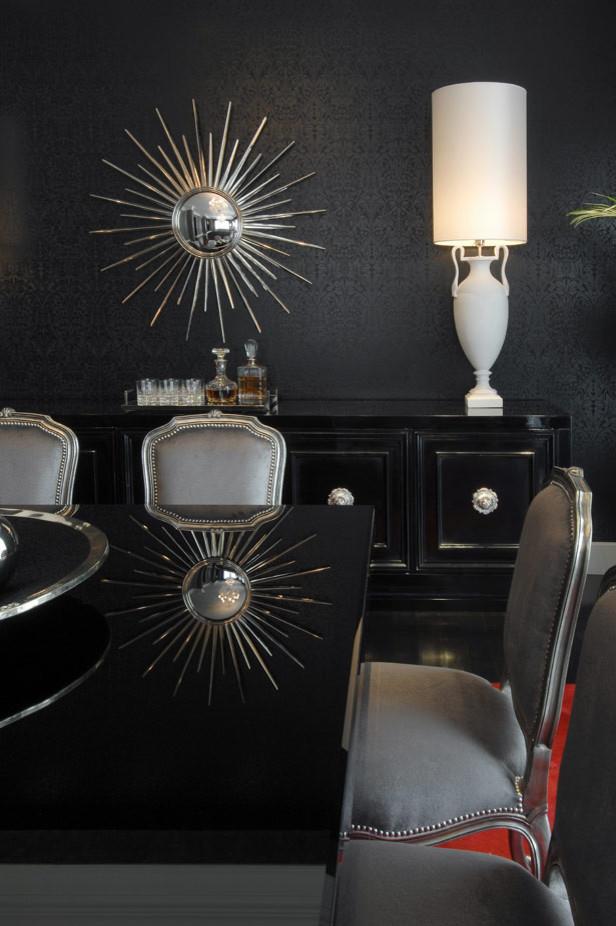 Dining room - contemporary dining room idea in Atlanta