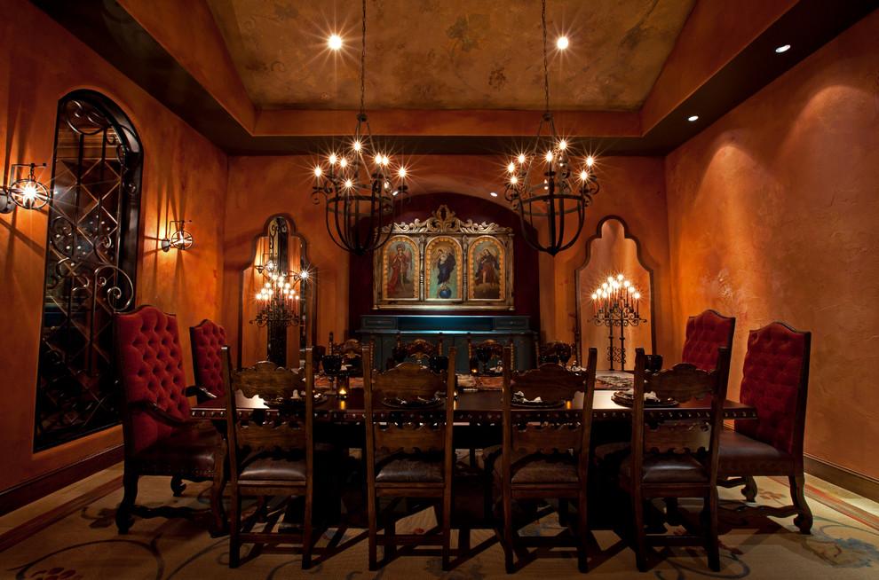 Southwest dining room photo in Houston