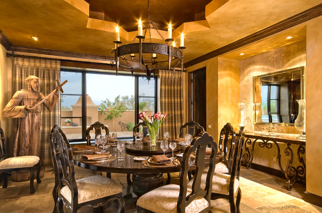 Hacienda Style Mediterranean Dining Room Other Metro