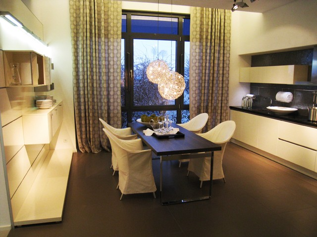 Hacker Kitchen Showroom in Germany Modern Dining Room