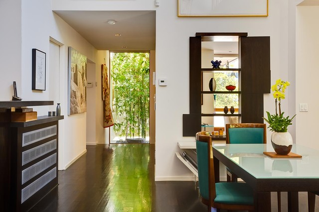 Hall Towards The Entry From Great Room By MGS Architecture Asian Dining