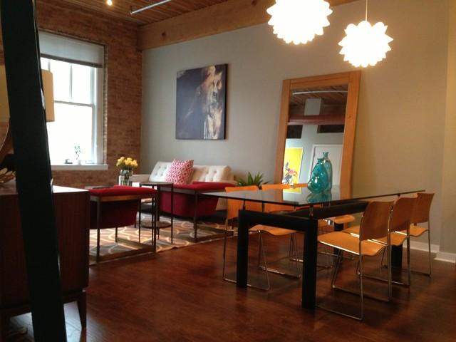 Hallie 39 s loft mid century modern modern dining room for Loft dining room ideas
