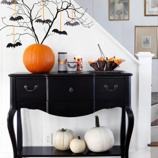 Halloween inspirations for your home krystine edwards for B q dining room wallpaper