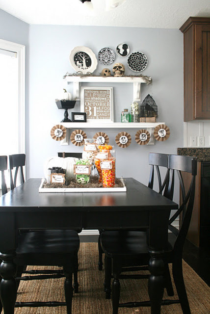 Halloween Glam  dining room