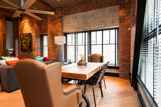 Hamilton eclectic industrial contemporary dining room vancouver by beyond beige - Industrial design interior ideas ...