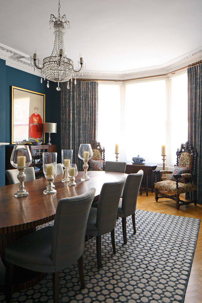 Example of an ornate dining room design in London