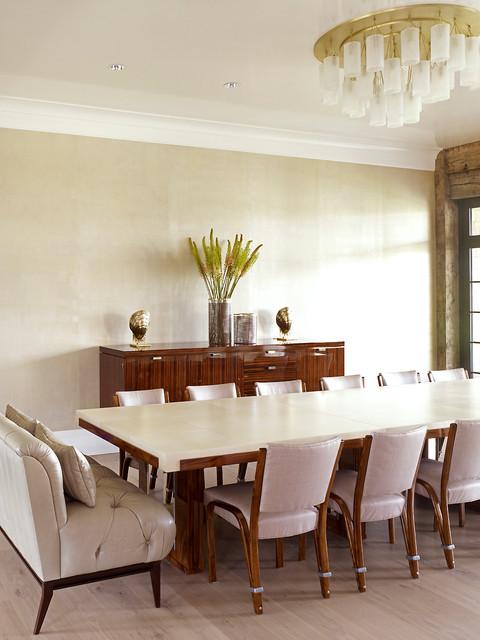 hampton beach house beach style dining room new york by