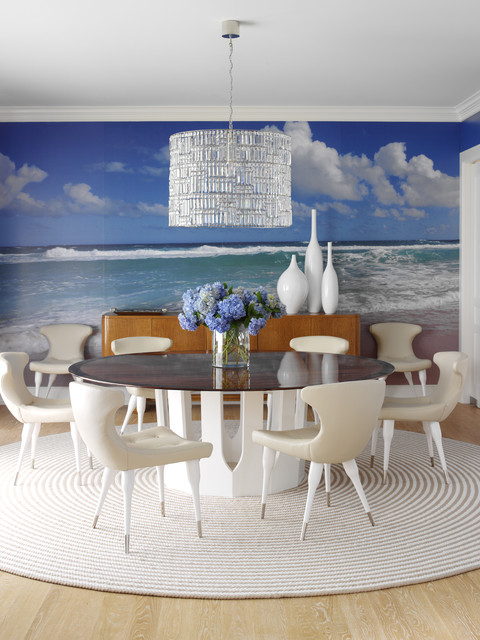Hamptons Modern eclectic-dining-room