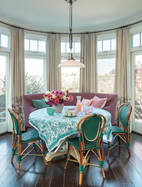 Hamptons Style House Beach Style Dining Room Los