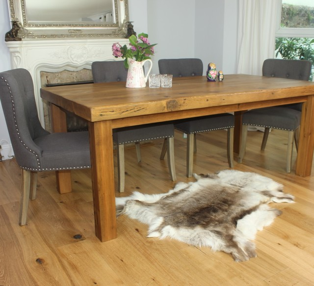 handcrafted reclaimed wood dining tables by modish living